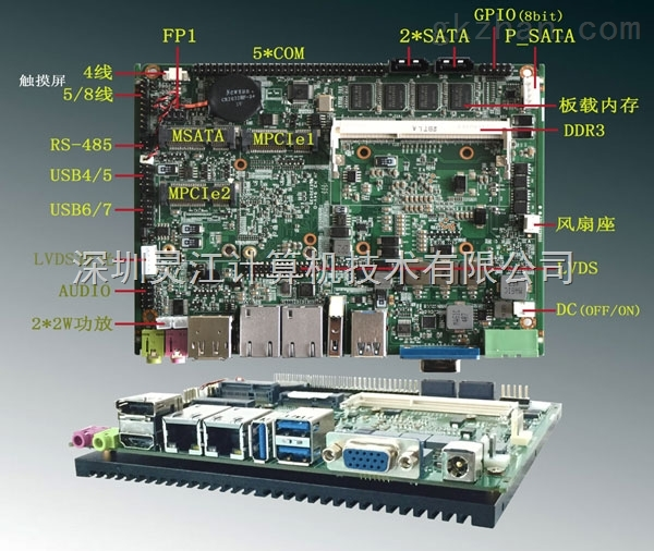 板贴I7I5I3工控主板intel千兆以太网卡