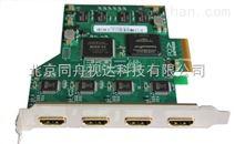 四路视频采集卡-4路高清音视频实时高清HDMI视频采集卡