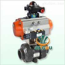 气动塑料球阀-UPVC气动球阀-UPVC塑料球阀