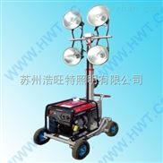 带汽油柴油发电机组可移动应急升降照明灯