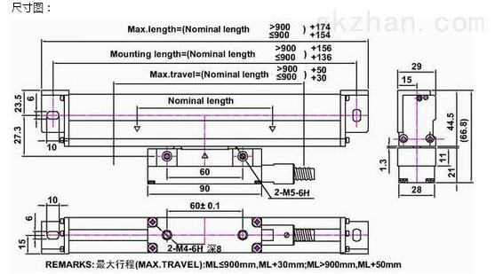 产品库 物联网 传感器 位移传感器 jnle30 jn-tek 光栅尺