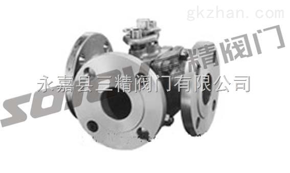 Q44F三通L型球阀