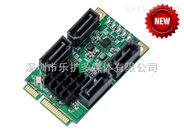 乐扩Mini PCIe 转4口SATA3/6G扩展卡