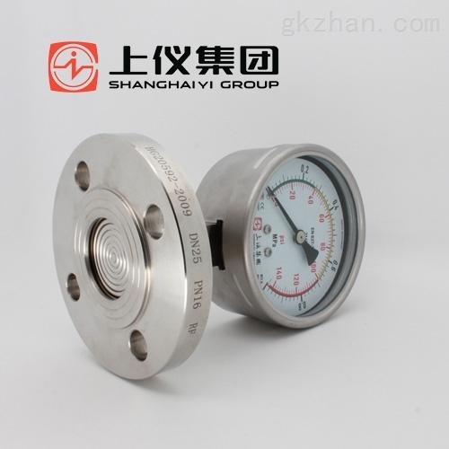 Y-100B/FZ/YL/MF-敞开式突面隔膜压力表-Y-100B/FZ/YL/MF-上海仪表