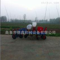 拖拉机动力四行花生起垄播种施肥喷药覆膜机
