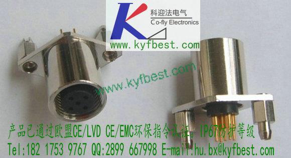 pcb板焊接插座-电路板焊接航空插座