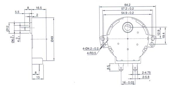 单相同步电机接线图反正转接法
