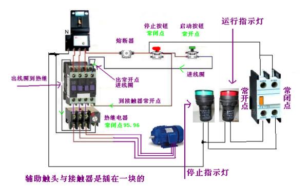 交流接触器与热过载继电器配套接线器图