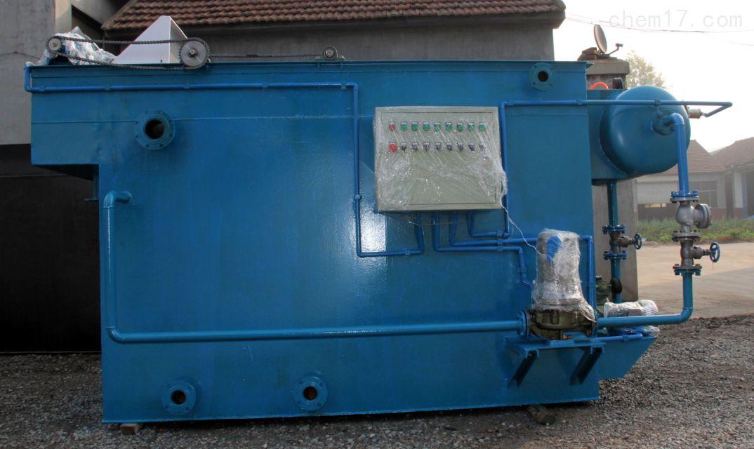 溶气气浮机的工作原理:污水先加药反应,然后进入气浮的混合区,与释放