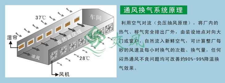 负压风机利用空气对流,将厂内的热气完全排出